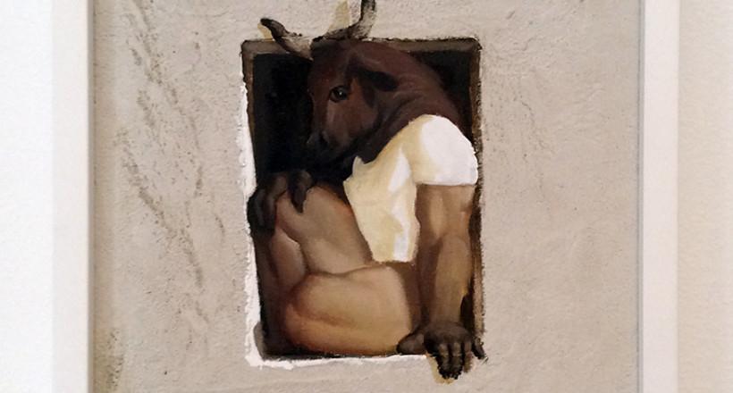 """Giampaolo Tomassetti, """"Minotauro"""", Olio su tela"""